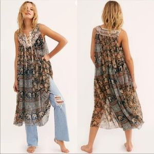NWOT Free People The Wanderers Maxi Tunic